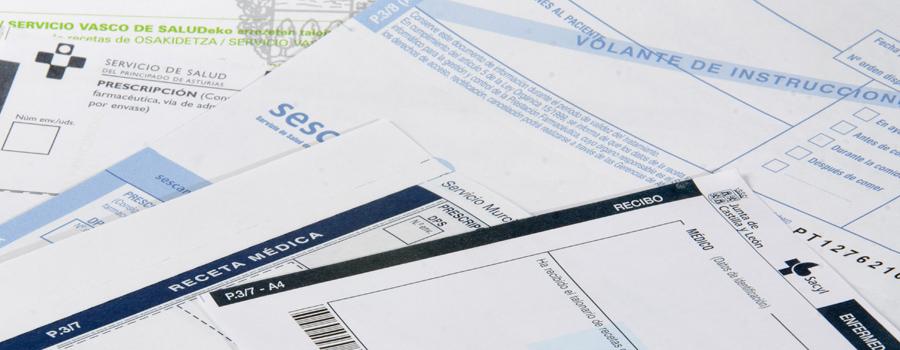 impresión documentos datos variables recetas